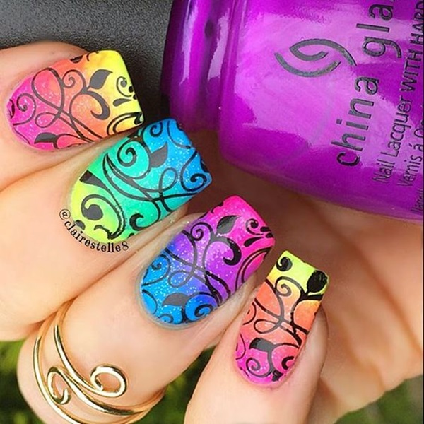 Cute Flower Nail Designs (31)