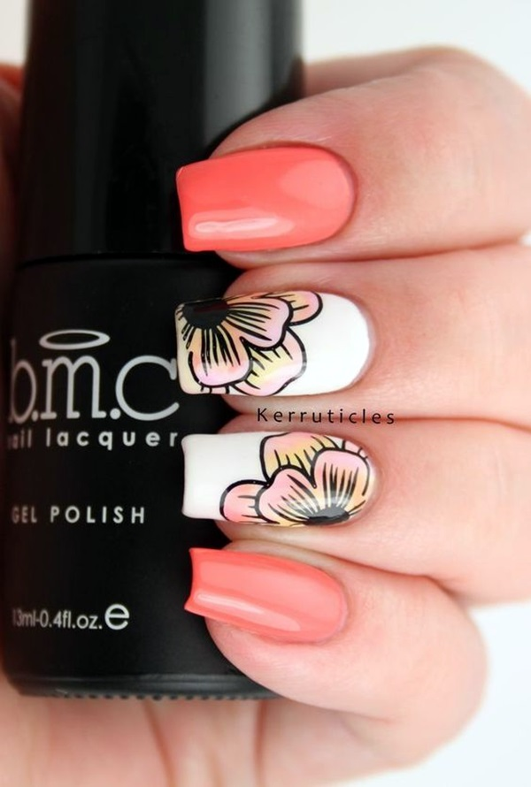 Cute Flower Nail Designs (32)