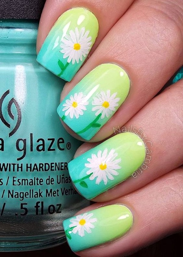 Cute Flower Nail Designs (33)