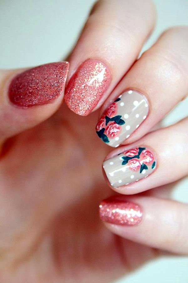 Cute Flower Nail Designs (35)