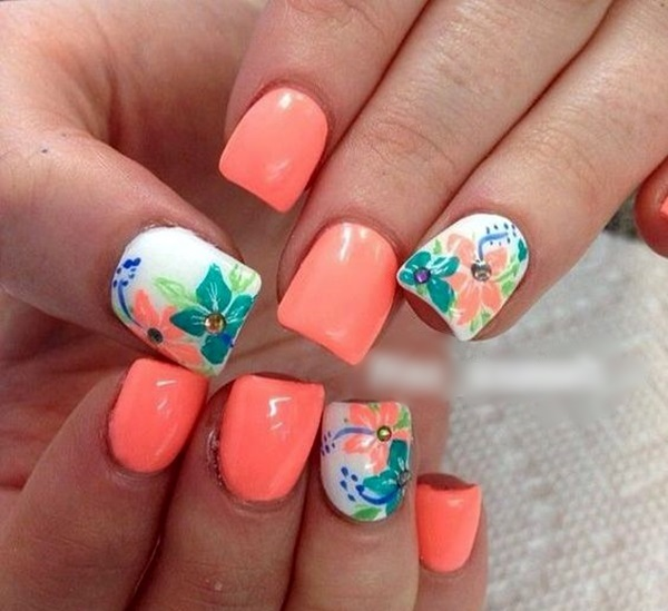 Cute Flower Nail Designs (36)