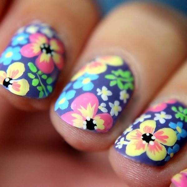 Cute Flower Nail Designs (38)