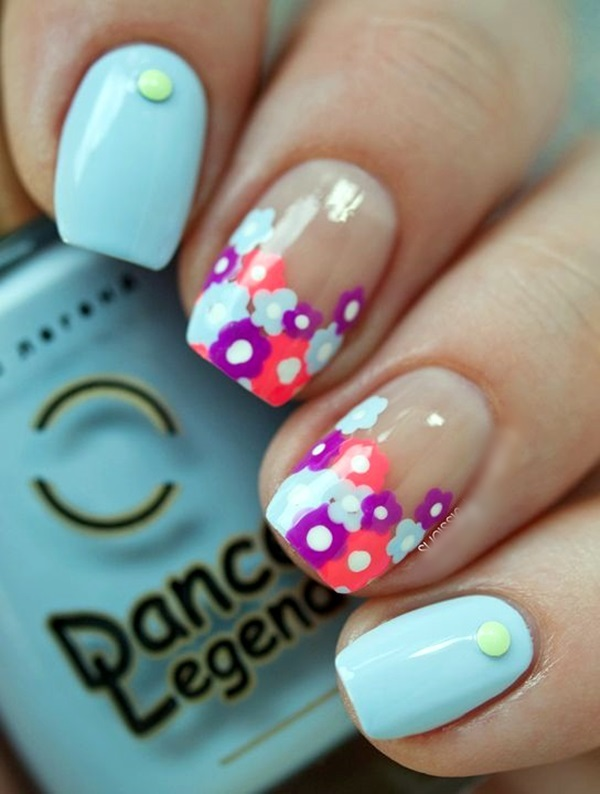 Cute Flower Nail Designs (39)
