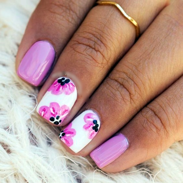 Cute Flower Nail Designs (40)