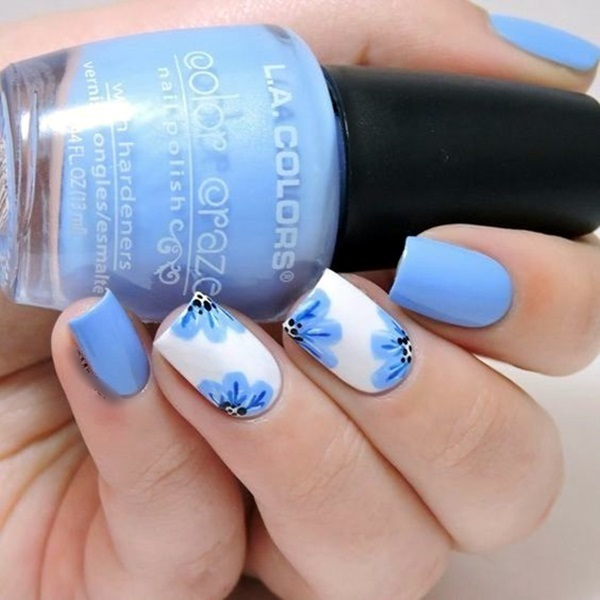 Cute Flower Nail Designs (41)