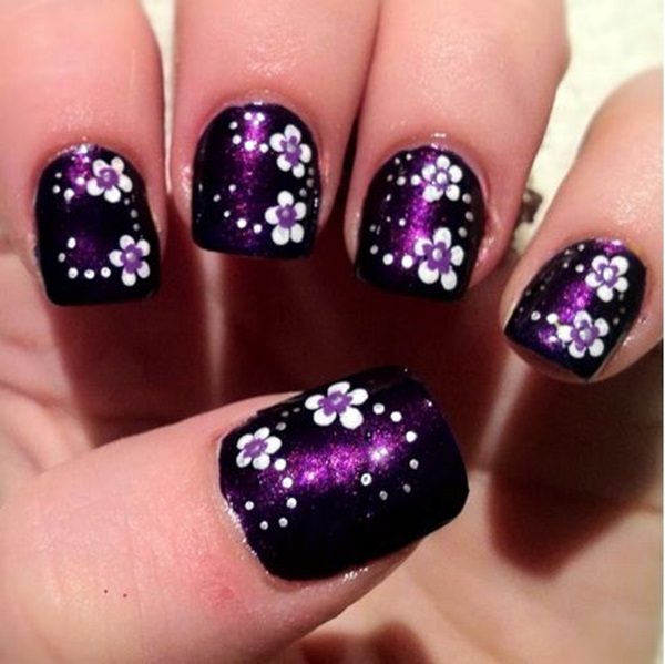 Cute Flower Nail Designs (6) - 101 Cute Flower Nail Designs That're Too Attractive To Handle