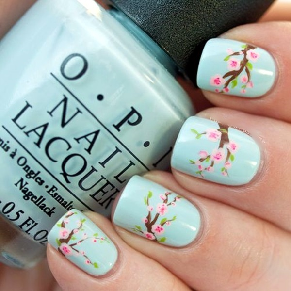 Cute Flower Nail Designs (7)