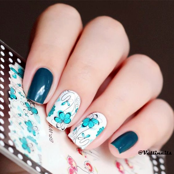 Cute Flower Nail Designs (9)