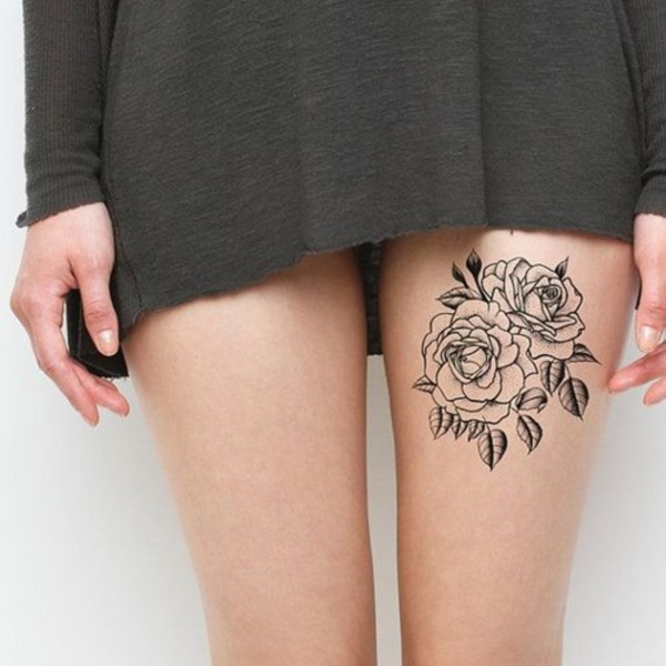 Girl Leg Tattoos Designs0021