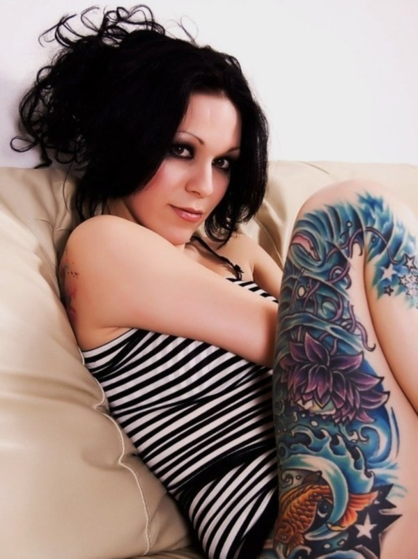 Girl Leg Tattoos Designs0041