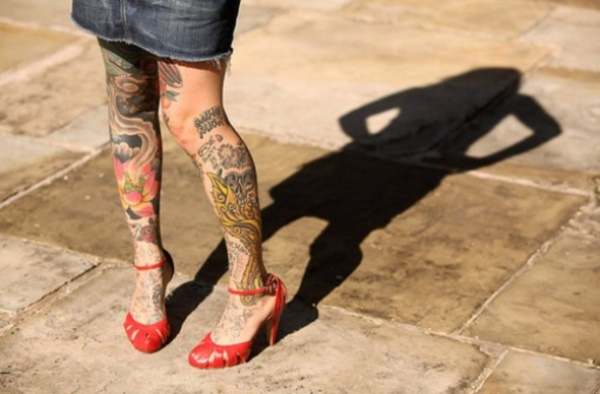 Leg Tattoo Designs-Coolest Leg Tattoos For Girls