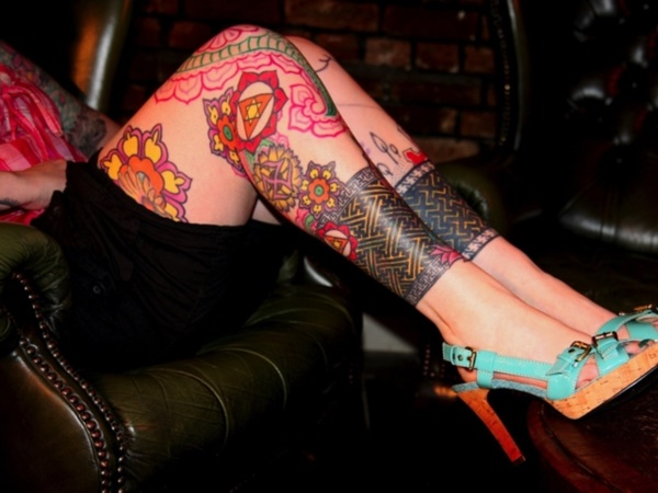 Girl Leg Tattoos Designs0111