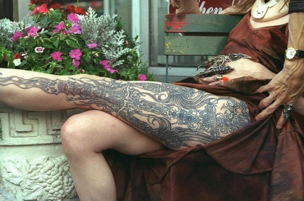 Girl Leg Tattoos Designs0121