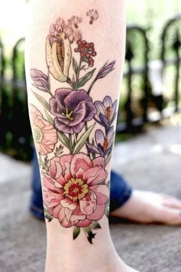 Girl Leg Tattoos Designs0211