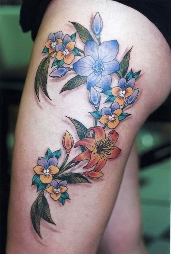 Girl Leg Tattoos Designs0231