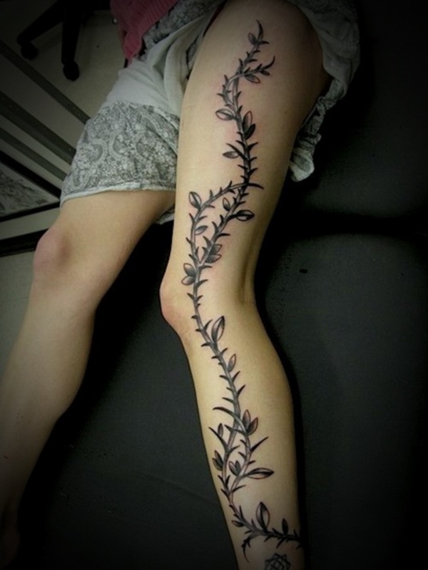 Girl Leg Tattoos Designs0271