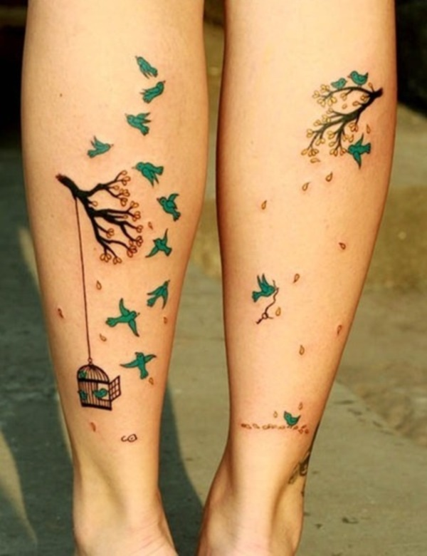 Girl Leg Tattoos Designs0281