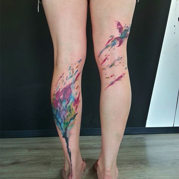 Girl Leg Tattoos Designs0291