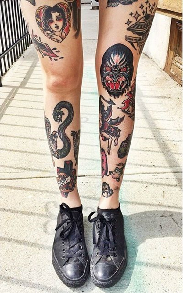101 So Flirty Girl Leg Tattoos Designs To Increase The Heat