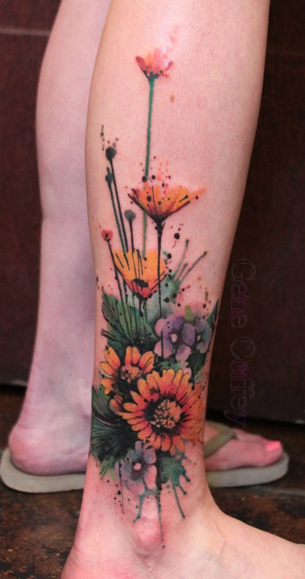 Girl Leg Tattoos Designs0371