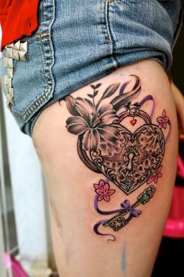 Girl Leg Tattoos Designs0381