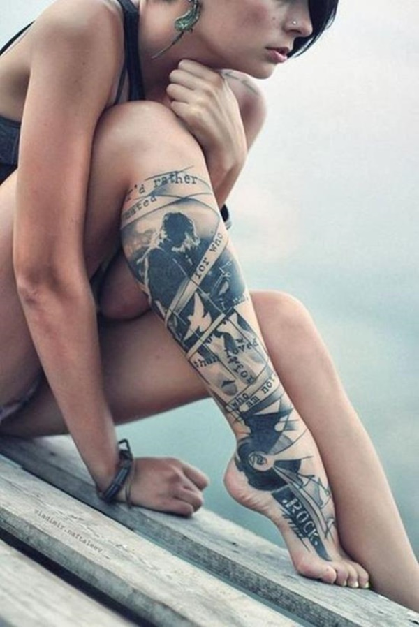 Girl Leg Tattoos Designs0391