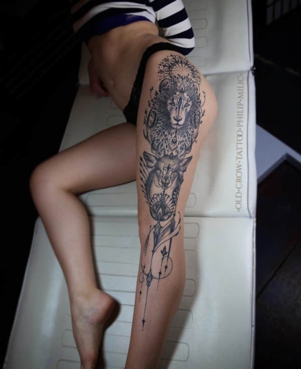 Girl Leg Tattoos Designs0401