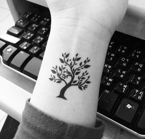 101 small tree tattoo designs that 39 re equally meaningful cute. Black Bedroom Furniture Sets. Home Design Ideas