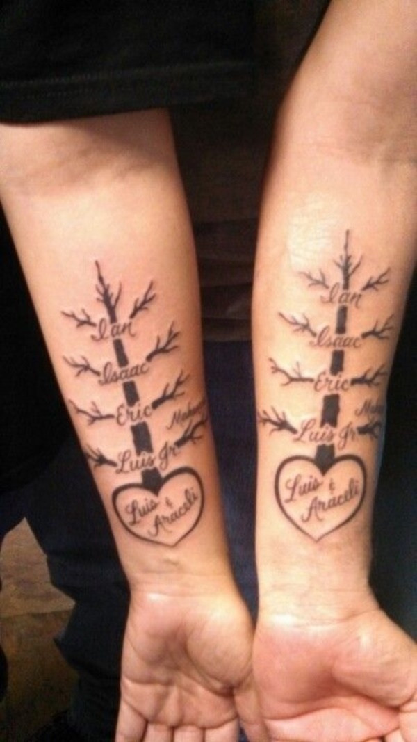 101 small tree tattoo designs that 39 re equally meaningful cute for Name tattoos for kids
