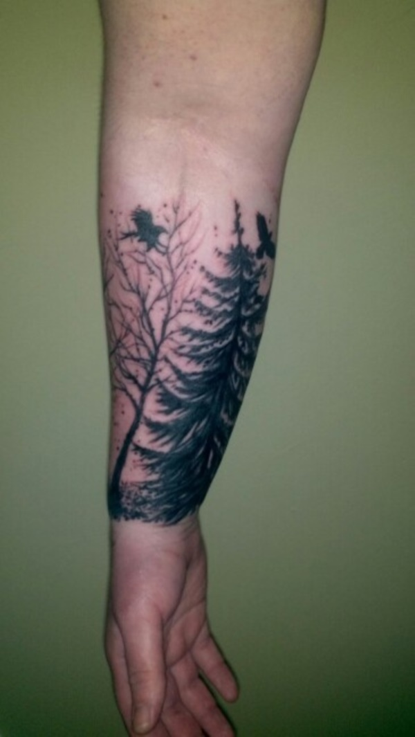 small tree tattoo designs0381