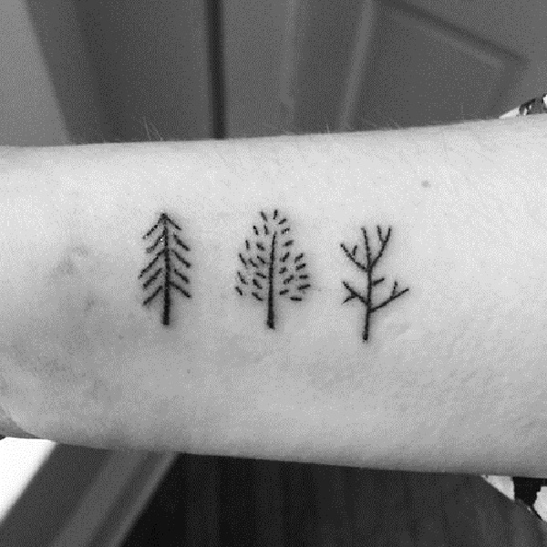 101 small tree tattoo designs that re equally meaningful cute rh galknows com simple tree of life tattoos simple willow tree tattoos
