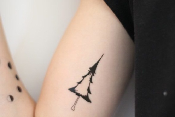 Christmas Tree Tattoo Designs.101 Small Tree Tattoo Designs That Re Equally Meaningful Cute