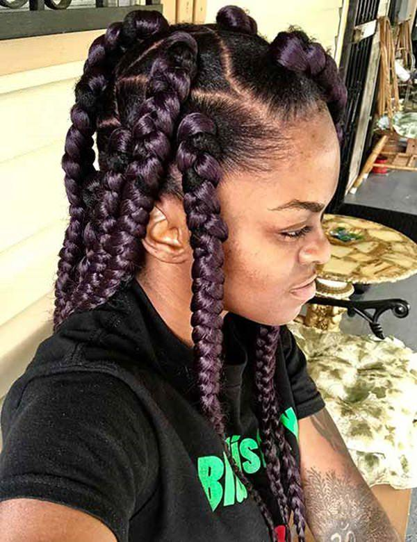 121 Sophisticated Jumbo Box Braids Styles For You