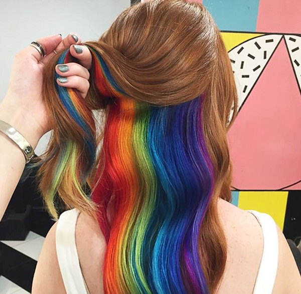 102 Cool Rainbow Hair That Is Worth Trying