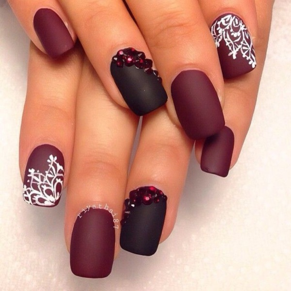 Image result for alternate matte color on nail